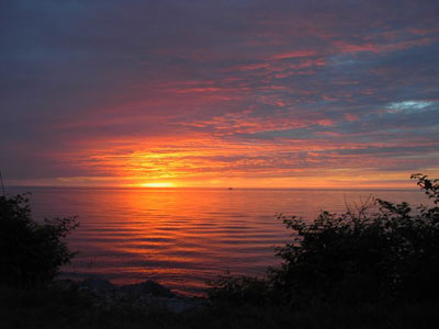 Oswego NY Sunset RV Park Lake Ontario Sunset